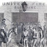 Rebel prisoners being escorted into Frederick on September 16, 1862, after the Battle of South Mountain (The New York Illustrated News, October 11, 1862; A. Lumley, artist; courtesy of Princeton University Library)