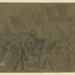 Alfred R. Wauds sketch of General McClellan entering Frederick (Library of Congress)