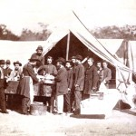 An amputation being performed after the Battle of Gettysburg (U.S. Army Military History Institute)