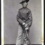 Frances Clayton disguised as Jack Williams, a Union soldier in the Missouri Artillery; Clayton fought alongside her husband in several battles until her true identity was discovered when a bullet struck her hip and she was sent to the hospital. (Library of Congress)