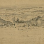 A sketch of the previous image (July 2, 1863, Edwin Forbes, artist; Library of Congress)