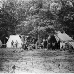A field hospital in Gettysburg (National Park Service)