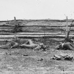 Bodies of Confederate soldiers near a fence on the Hagerstown pike (September 1862, Alexander Gardner, photographer; Library of Congress)