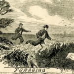 Foraging for food near Camp Meredith (Harper's Weekly, July 6, 1861; NPS History Collection)