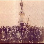 Dedication of the 14th New Jersey monument on the Monocacy battlefield in 1907 (Monocacy National Battlefield)
