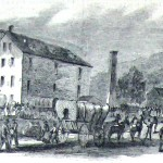 Confederates taking flour from a Maryland mill (Harpers Weekly, July 30, 1864; NPS History Collection)