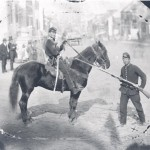 Union Major Napoleon B. Knight of the 1st Delaware Cavalry, in a photograph taken on Westminster's Main Street on the morning of the battle, June 29, 1863 (U.S. Military History Institute)