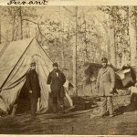 Assistant Surgeon John Theodore Heard, Surgeon Allston Waldo Whitney, and a servant in the Williamsport camp of the 13th Massachusetts (Courtesy of Brad Forbush, http://www.13thmass.org/)
