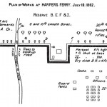 Plan of Union breastworks on Camp Hill at Harpers Ferry (George W. Wingate, History of the Twenty-Second Regiment of the National Guard of the State of New York: From its Organization to 1895 [New York: Edwin W. Dayton, 1896], 111-112)