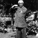 Simon Murdock, from Carroll County, fought with the 4th United States Colored Troops (USCT) Regiment; he is shown here in his Grand Army of the Republic (GAR) uniform, pointing to where he was wounded in the head during the war (Courtesy of the Historical Society of Carroll County)