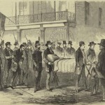 John Brown being taken back to the Charlestown jail after he was sentenced to hang (Frank Leslie's Illustrated Newspaper, Nov. 12, 1859; New York Public Library, digitalgallery.nypl.org)