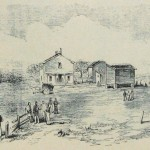 Edward's Ferry, MD, where Union General Bank's division crossed the Potomac on October 22, 1861 (Frank Leslie's Illustrated Newspaper, November 16, 1861; NPS History Collection)