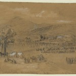 Union encampments near Sugarloaf Mountain in Frederick County (September 1862, Alfred R. Waud, artist; Library of Congress)