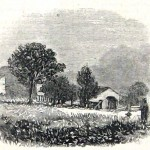 The barn in which Union General John Reynolds is believed to have died after being wounded in the Gettysburg battle (Harper's Weekly, August 22, 1863; NPS History Collection)