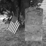 The grave marker of Pvt. Thomas Dorsey, Co. F, 4th USCT, at Fairview Church Cemetery in Carroll County (Hannah Grant)