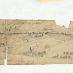 This three piece sketch shows Camp Hill above Harpers Ferry, the village of Bolivar, and the tents of soldiers on Bolivar Heights. (September 1862, Edwin Forbes, artist; Library of Congress)