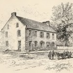 The Jacob H. Grove house in Sharpsburg, where General Robert E. Lee met with Generals James Longstreet and D.H. Hill during the battle (Battles and Leaders of the Civil War [New York: The Century Co., 1887], 666)