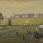 Edwin Forbes later painted a version of his Peach Orchard sketch (c.1865, Edwin Forbes, artist; Library of Congress)