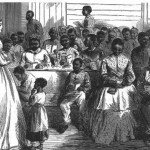 After the war, the Freedmens Bureau helped African Americans establish schools throughout the South, such as this one in Vicksburg, Mississippi (Harpers Weekly, June 23, 1866; NPS History Collection)