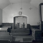 The interior of Tolsons Chapel in Sharpsburg, Maryland, built in 1866 and used as both a church and a Freedmens Bureau school from 1868 to 1870 (James Rosenthal, HABS/HAER, Library of Congress)
