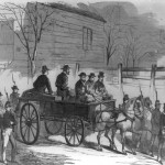 John Brown riding on his coffin to the place of execution (Frank Leslie's Illustrated Newspaper, Dec. 17, 1859; Library of Congress)