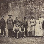 African Americans who escaped from slavery (sometimes called contraband) and found refuge in the Williamsport, Maryland, camp of the 13th Massachusetts Infantry Regiment (U.S. Army Military History Institute)