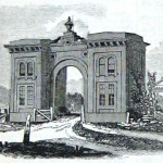 The gatehouse to Gettysburg's Evergreen Cemetery; the cemetery was laid out in 1854 and the gatehouse was built the following year (Harper's Weekly, August 22, 1863; NPS History Collection)