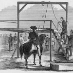 John Brown ascending the scaffold to be hanged (Frank Leslie's Illustrated Newspaper, Dec. 17, 1859; Library of Congress)