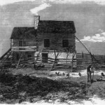 The Kennedy Farm in Washington County, MD, where John Brown and his men prepared for the raid on Harpers Ferry (Library of Congress; originally from Frank Leslie's Illustrated Newspaper, Nov. 26, 1859)