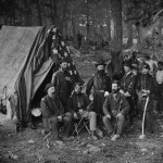 Union General John C. Caldwell and staff on the battlefield of Antietam (Alexander Gardner, photographer, September 1862; Library of Congress)