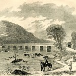 The Maryland side of the bridge at Point of Rocks, MD, held by Confederate soldiers (Harper's Weekly, June 29, 1861; NPS History Collection)