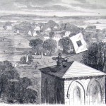 The Episcopal Church in Charlestown, VA, being used as a signal station by Union troops (F. H. Schell, artist; Frank Leslie's Illustrated News, November 8, 1862; courtesy of Princeton University Library)