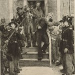 In 1885, the artist Thomas Hovenden created this image of John Brown kissing an African American child on the way to his hanging (Library of Congress)