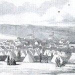 Camp of the 98th Pennsylvania Volunteers in Hancock (Theodore R. Davis, artist; Harper's Weekly, November 8, 1862; NPS History Collection)