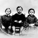 Frank, Frederick, and Alice Humiston, the children of Union solider Amos Humiston of the 154th New York Infantry. When he was killed on the first day of the Battle of Gettysburg, Amos was found holding this photograph. Unable to identify his body, this photo was circulated and his story became a sensation in the north. (Gettysburg National Military Park)
