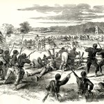 Forbes' sketch of the charge of Hawkins' Zouaves as it appeared in Frank Leslie's Illustrated Newspaper, October 11, 1862 (courtesy of Timothy R. Snyder)