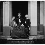 Mrs. Tynan and her two sons in Frederick, Maryland, c.1862 (Library of Congress)