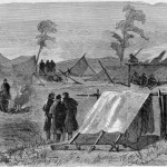 This image of the camp of the 7th New York State Militia near Frederick appeared in The New-York Illustrated News in August 1863 (E.B.S., artist, The New-York Illustrated News, August 1, 1863; courtesy of Princeton University Library)