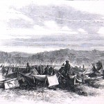 A sketch of the previous photograph (Harper's Weekly, October 18, 1862; NPS Historical Collection)