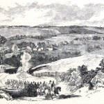 A detachment of Union cavalry from General Banks' army reconnoitering near Hyattstown, MD (Frank Leslie's Illustrated Newspaper, September 14, 1861; NPS History Collection)