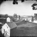 The Virginia side of the ruined bridge at Berlin, Maryland (Alexander Gardner, photographer, October 1862; Library of Congress)