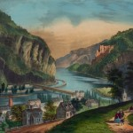 A Currier and Ives print of Harpers Ferry before the war (c.1856-1861, Currier & Ives, artists; Library of Congress)
