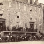 Students and teachers at Mount St. Mary's College in July 1863 (Library of Congress)