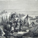 Soldiers of the Army of the Potomac break camp in preparation for their advance on Harpers Ferry and Martinsburg in 1862 (The New-York Illustrated News, March 22. 1862; courtesy of Princeton University Library)