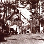 A photograph of the Sanitary Commissions camp in Gettysburg, from which the previous image was drawn (U.S. Army Military History Institute)