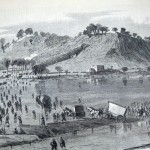Union forces under Generals Humphrey and Porter cross the Potomac River at Blackfords Ford on their march to Shepherdstown (A. Lumley, artist; The New-York Illustrated News, November 8, 1862; courtesy of Princeton University Library)