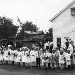 Children in Westminster line up for a Memorial Day Parade c.1900 (Historical Society of Carroll County)