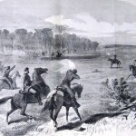 """The 6th New York Cavalry attacked the Confederate """"Loudon County Rangers"""" at Glenmore Farm in Loudoun County on October 16, 1862, capturing 62 of the Confederate horsemen (Arthur Lumley, The New-York Illustrated News, November 15, 1862; courtesy of Princeton University Library)"""