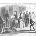 The women of Hagerstown visiting wounded Union soldiers and providing the invalids with food and other comforts (Theodore R. Davis, artist; Harper's Weekly, October 11, 1862; courtesy of Timothy R. Snyder)