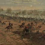 Union General William Scott Hancock directs the Union defenses against Pickett's Charge (May 16, 1887, Thure de Thulstrup, artist; Library of Congress)